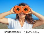 funny photo of positive adult... | Shutterstock . vector #416937217