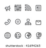 simple icons isolated on white  ...