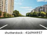the building and road   Shutterstock . vector #416944957