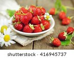Sweet Wild Strawberries In...