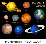 planets of the solar system.... | Shutterstock .eps vector #416961097