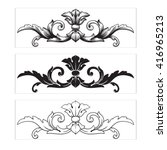 illustration of set of vintage...   Shutterstock .eps vector #416965213