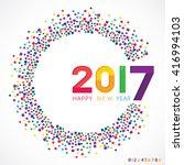 vector illustration of happy... | Shutterstock .eps vector #416994103