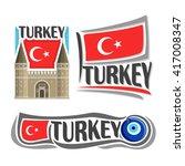 vector logo for turkey ...   Shutterstock .eps vector #417008347