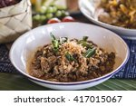 northern thai spicy minced meat ... | Shutterstock . vector #417015067