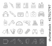 line icons   doomsday preppers | Shutterstock .eps vector #417017797
