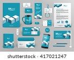 professional blue branding... | Shutterstock .eps vector #417021247
