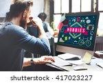 hobbies activity amusement... | Shutterstock . vector #417023227