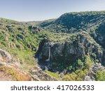 famous waterfall in pozo de los ... | Shutterstock . vector #417026533
