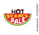 hot summer sale. colorful... | Shutterstock .eps vector #417033067