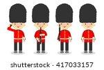 set of soldiers  british... | Shutterstock .eps vector #417033157