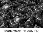 background black garbage bag...
