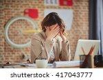 headache in office   Shutterstock . vector #417043777