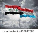 3d illustration of syria  ... | Shutterstock . vector #417047803