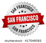 san francisco  round silver... | Shutterstock .eps vector #417048583