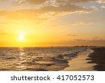 The Sun Setting Above The Gulf...