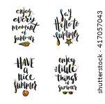 set of summer holidays... | Shutterstock .eps vector #417057043