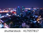 abstract urban night light... | Shutterstock . vector #417057817