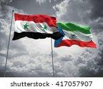 3d illustration of syria  ... | Shutterstock . vector #417057907
