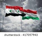 3d illustration of syria  ... | Shutterstock . vector #417057943