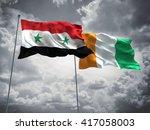3d illustration of syria  ...   Shutterstock . vector #417058003