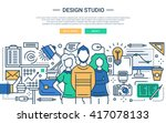 illustration of vector modern... | Shutterstock .eps vector #417078133