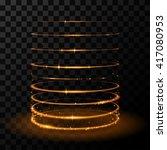 gold circles effect | Shutterstock .eps vector #417080953