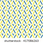 Yellow And Blue Color Lattice...