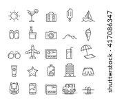 icon travel. icon summer.... | Shutterstock .eps vector #417086347