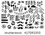 hand drawn vector collection of ... | Shutterstock .eps vector #417092353