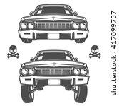 Set Of Lowrider Cars Lowrider...