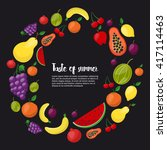healthy food circle of...   Shutterstock .eps vector #417114463