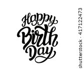 happy birthday to you. hand... | Shutterstock . vector #417122473