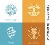 vector set of logo design... | Shutterstock .eps vector #417134563