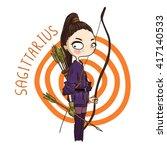 zodiac signs sagittarius.... | Shutterstock .eps vector #417140533