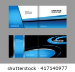 blue brochure template  | Shutterstock .eps vector #417140977