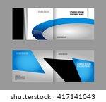 colorful bi fold brochure... | Shutterstock .eps vector #417141043