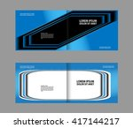 professional business flyer... | Shutterstock .eps vector #417144217