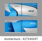 brochure design template vector ... | Shutterstock .eps vector #417144247