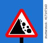 Warning Triangle Falling Or...