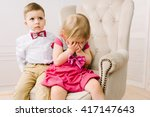 the girl is crying | Shutterstock . vector #417147643