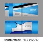 professional business blue... | Shutterstock .eps vector #417149047