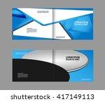 vector empty bi fold brochure... | Shutterstock .eps vector #417149113