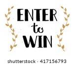 enter to win vector sign  win... | Shutterstock .eps vector #417156793