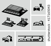 car factory icons  | Shutterstock .eps vector #417165043