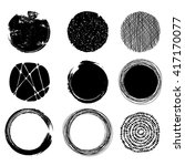 set of graphic circles  eps10... | Shutterstock .eps vector #417170077
