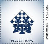 chess club sport emblems or... | Shutterstock .eps vector #417182053
