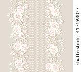 seamless floral pattern.... | Shutterstock .eps vector #417193027