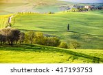tuscany  spring landscape. | Shutterstock . vector #417193753
