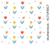 seamless floral pattern with...   Shutterstock .eps vector #417195817